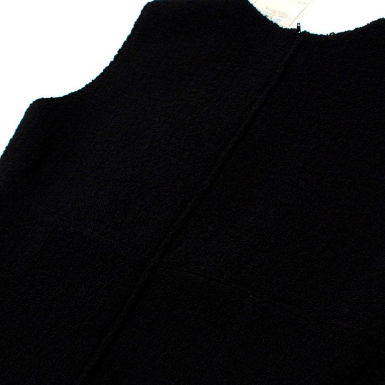 Valentino Boutique Black Fitted Wool Dress US 6 For Sale 3