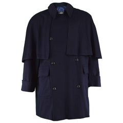 Valentino Boutique Men's Cashmere & Wool Vintage Cape Coat, 1980s