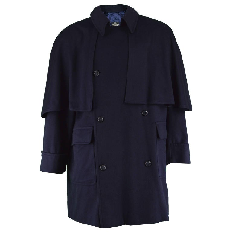 9980ac82a Valentino Boutique Men's Cashmere & Wool Vintage Cape Coat, 1980s
