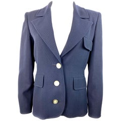 Valentino Boutique Navy Blazer Jacket Size 6