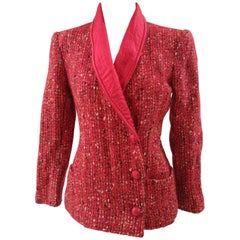 Valentino Boutique red wool jacket