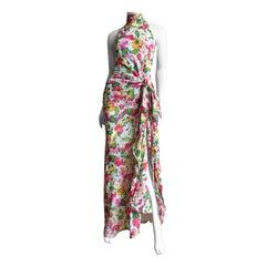 Valentino Boutique Silk Flower Gown