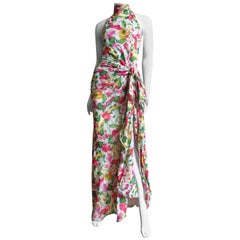 Valentino Boutique Silk Flower Gown