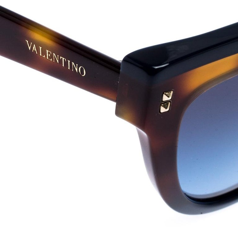 Valentino Brown/Blue Gradient VA4034 Cat Eye Sunglasses For Sale 1