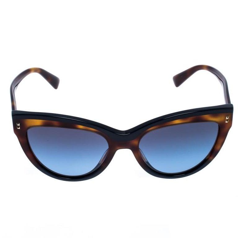 Valentino Brown/Blue Gradient VA4034 Cat Eye Sunglasses For Sale 2