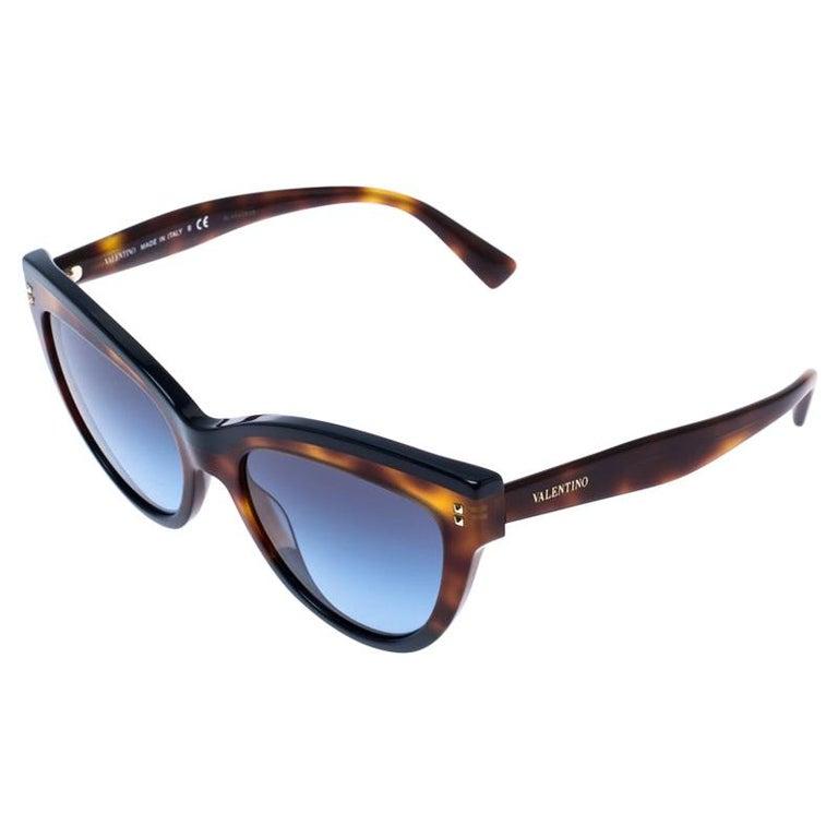 Valentino Brown/Blue Gradient VA4034 Cat Eye Sunglasses For Sale