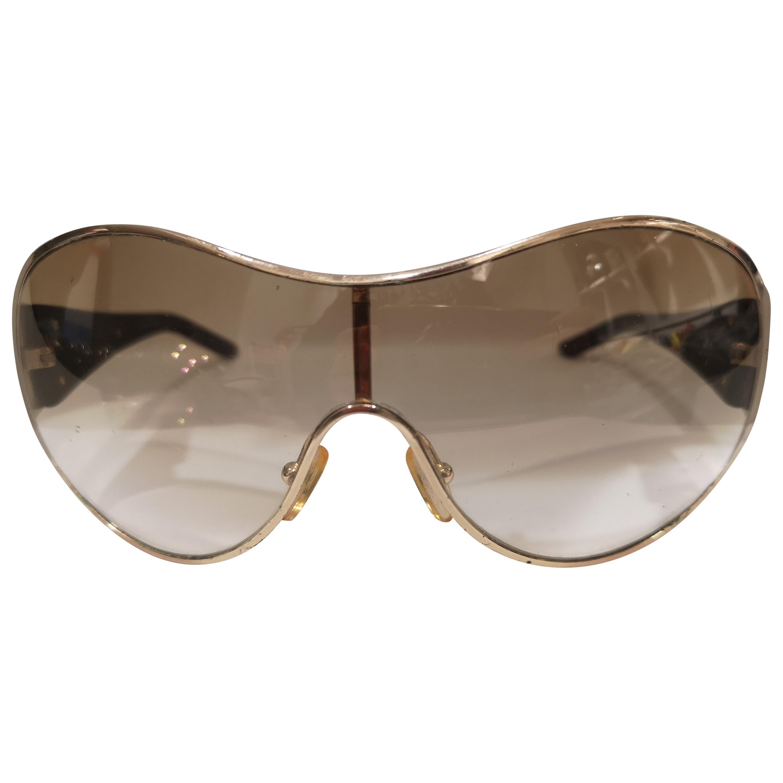 Valentino brown swarosvki stones mask sunglasses