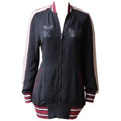 Valentino Butterfly-Appliquéd Silk Bomber Jacket