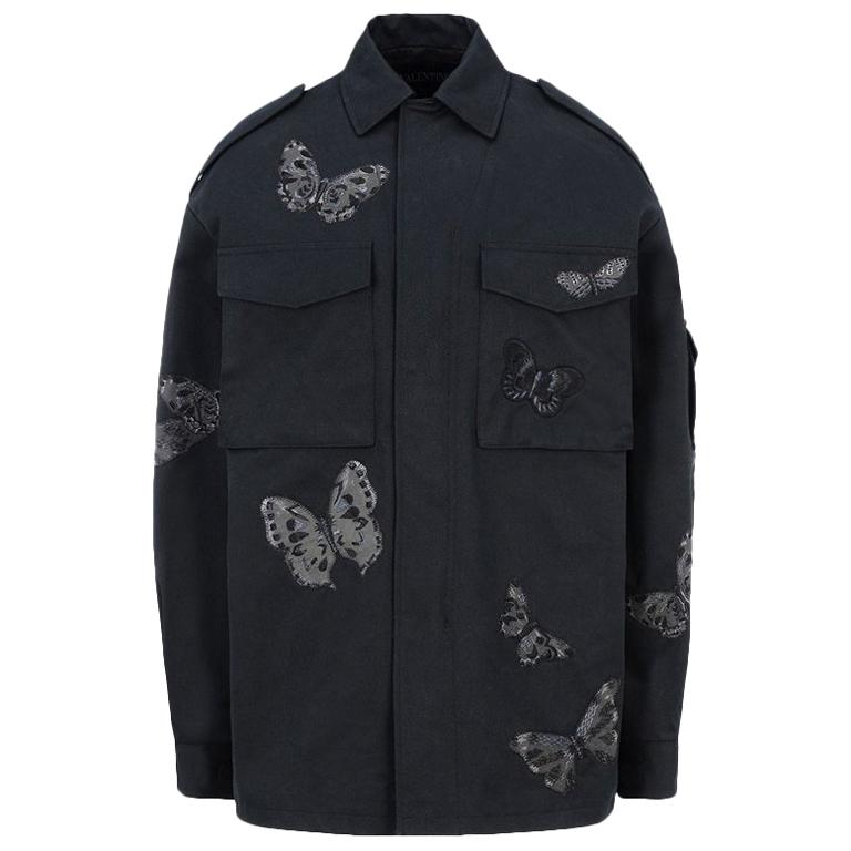 Valentino Butterfly Embroidered Safari Jacket