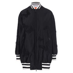 Valentino Butterfly Embroidered Silk Bomber Jacket