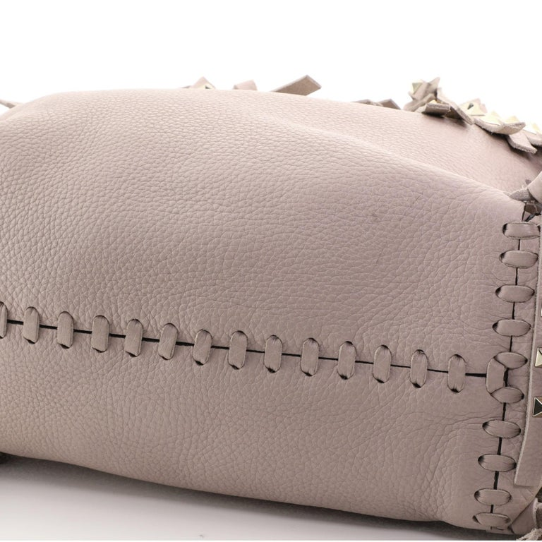 Valentino C-Rockee Fringe Tote Leather Micro 2