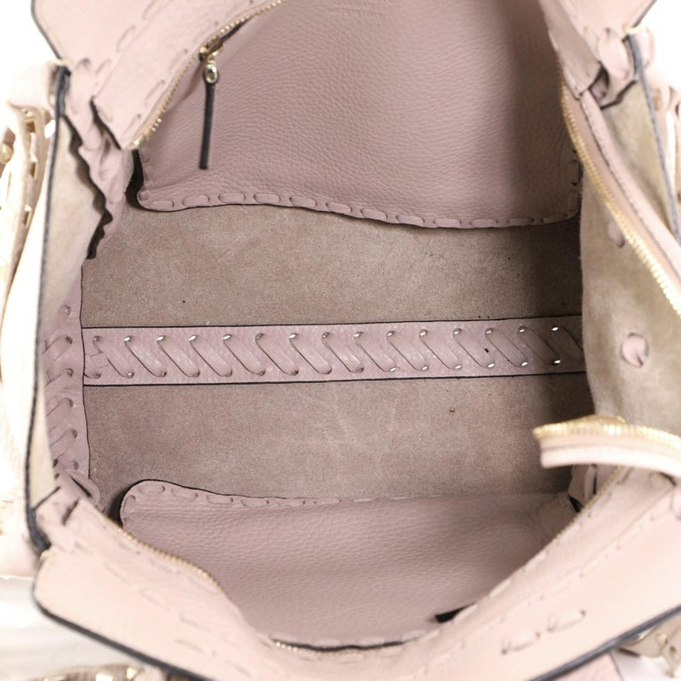 Valentino C-Rockee Fringe Tote Leather Micro 3