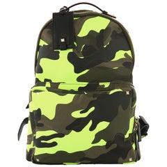 5e5b82c1dca2 Valentino Camouflage Backpack Nylon and Leather Large