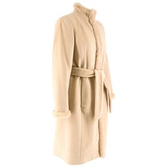 Valentino Cashmere & Angora Wool Blend Mink Fur Trim High Neck Coat 6