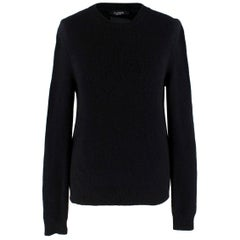 Valentino Cashmere Black Rockstud Knit Sweater S