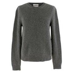 Valentino Cashmere Grey Rockstud Knit Sweater S