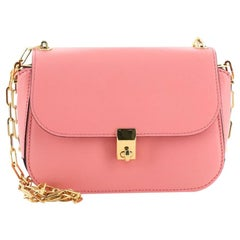 Valentino Chain Link Flap Shoulder Bag Leather Small