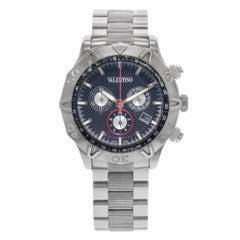 Valentino Chronograph Black Dial Steel Quartz Men's Watch V40LCQ9909-S099