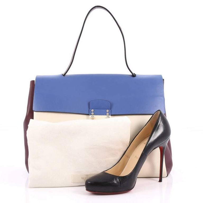 valentino colorblock mime handbag leather large for sale at 1stdibs