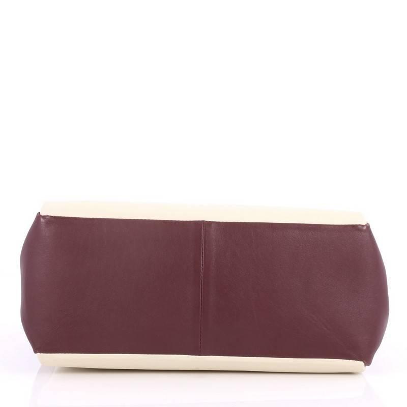 Valentino Colorblock Mime Handbag Leather Large deeutV