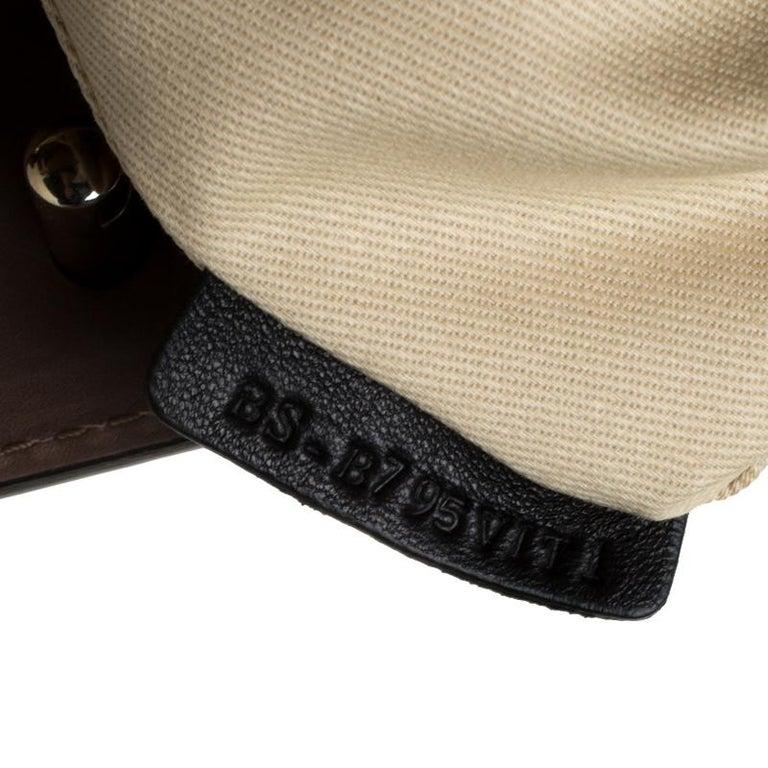 Valentino Dark Taupe Leather Demetra Tote For Sale 6