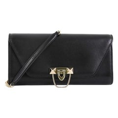 Valentino Demilune Clutch Leather