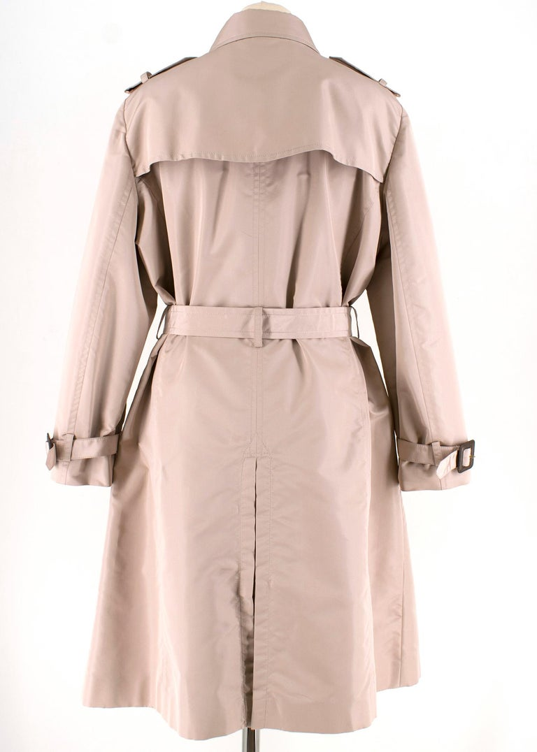 Brown Valentino Dusky Pink Silk Blend Ruffled Trench Coat 14 UK For Sale
