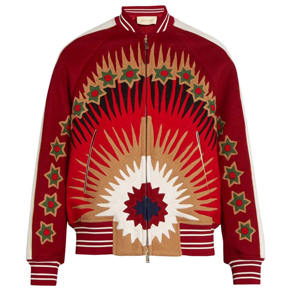 Valentino Enchanted Wonderland Wool-Blend Bomber Jacket