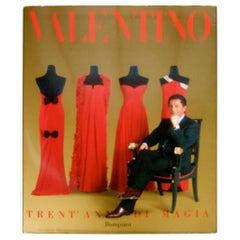 Valentino Fashion Book Collections from the 1960s thru 1990 c 1991