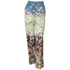 Valentino Floral Landscape Print Pants Size 6 US