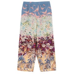 Valentino Floral Print Silk Trousers - Size US 4