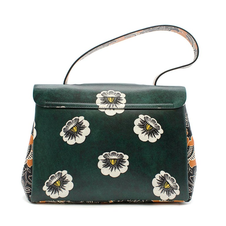 7195bfd7a69 Valentino Floral Printed Top Handle Bag For Sale at 1stdibs