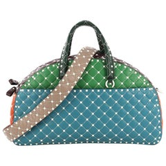 Valentino Free Rockstud Bowling Bag Quilted Leather Oversized