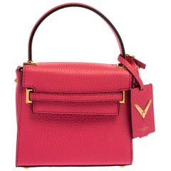 Valentino Fuchsia Leather Mini My Rockstud Crossbody Bag