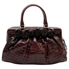 Valentino Garavani Bag In Purple Alligator