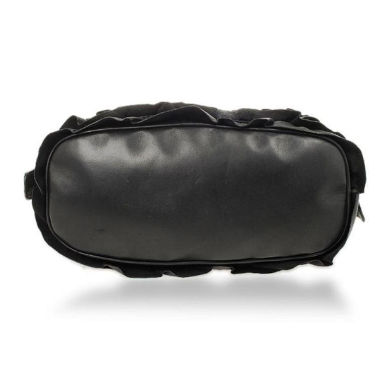 Valentino Garavani Black Ruffled Small Satchel For Sale 1