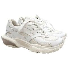 Valentino Garavani Bounce White Leather Sneakers SIZE 38.5