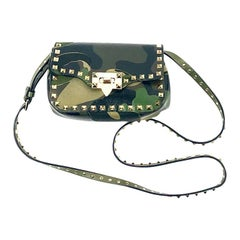 VALENTINO Garavani Camouflage Rockstud Mini Crossbody Bag in Green