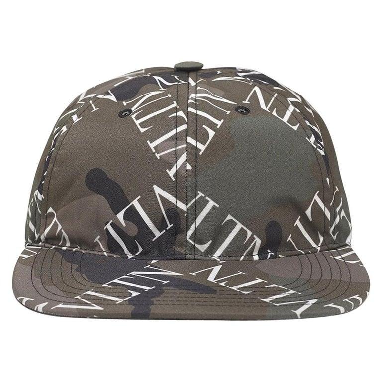 Valentino Garavani Camouflage VLTN Grid Baseball Cap For Sale
