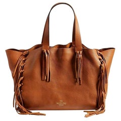 Valentino Garavani Cherokee Runway Fringed Leather Tote
