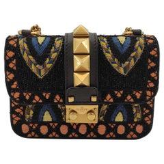 VALENTINO GARAVANI glam lock Shoulder bag in Multicolour Leather