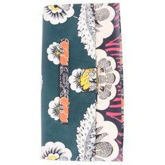 Valentino Garavani Mime Floral-Print Clutch Bag - green/orange/white/pink/blac