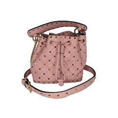 Valentino Garavani Pink Mini Rockstud Spike Bucket Bag