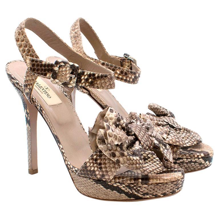 Valentino Garavani Python Embellished Sandals 37