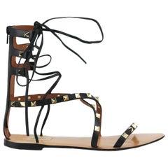 Valentino Garavani Rockstud Lace Up Leather Sandals EU 38 UK 5 US 8