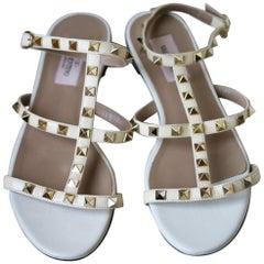 Valentino Garavani Rockstud Patent-Leather Sandals