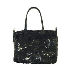 Valentino Garavani Sequined Shoulder Bag with Patent Trim