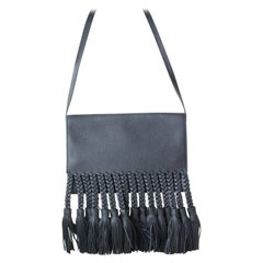 Valentino Garavani T.B.C. Braided Fringe Shoulder Bag
