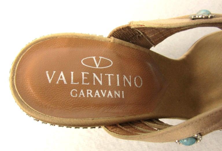 Women's Valentino GARAVANI Turquoise Swarovski crystal studded Shoe  For Sale
