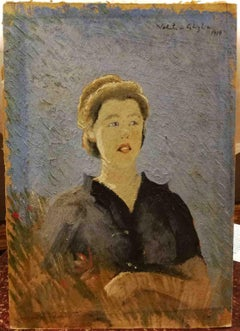 Valentino Ghiglia, Portrait of a lady, 1934, oil on board, signed and dated